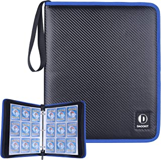 D DACCKIT Carrying Case Compatible with Pokemon Trading Cards, Cards Collectors Album with 30 Premium 9-Pocket Pages, Holds Up to 540 Cards