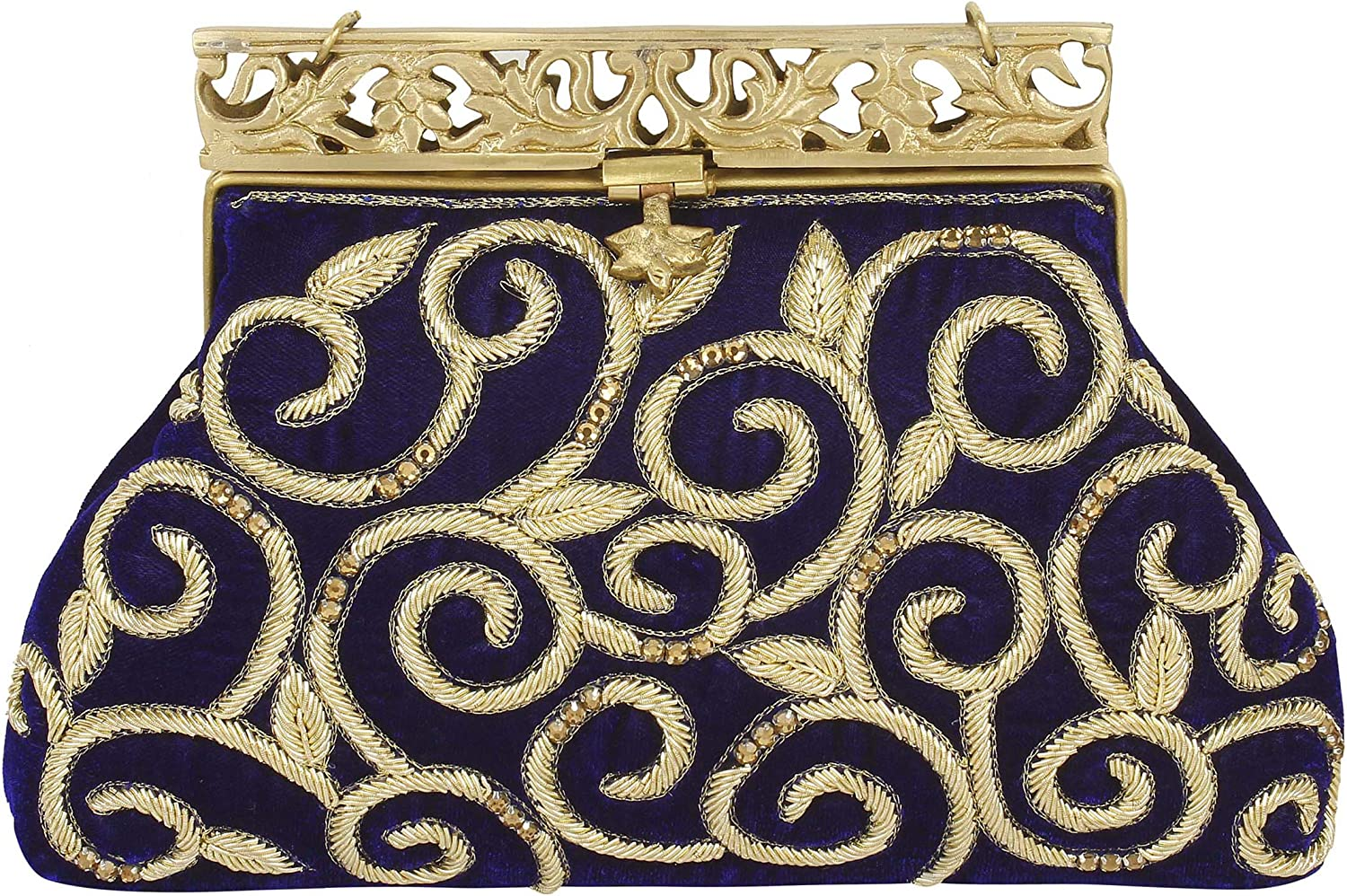 { Extra 10% Discount } Purse Collection bluee Handmade Clutch With Embroidery Work Purses For Women's