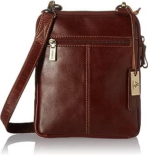 Visconti Leather Small Shoulder, Messenger Cross-Body Sling Bag Handbag, Tan