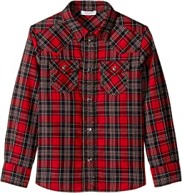 Dolce & Gabbana Kids - Check Tartan Button Down (Toddler/Little Kids)
