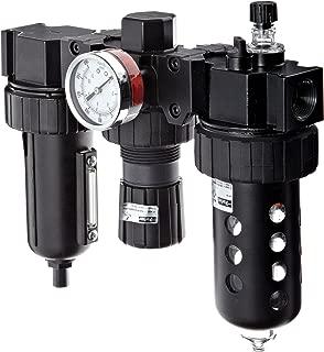 Parker 07B48A18A2BDC Three-Unit Combo Compressed Air Filter/Regulator/Lubricator, 3/4