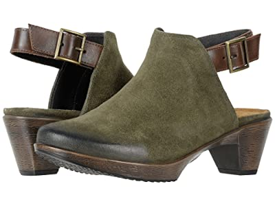 Naot Upgrade (Brushed Oily Olive Suede/Pecan Brown Leather) Women