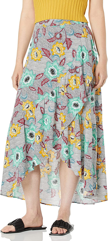 BCBGeneration Women's Batik Floral Midi Sarong Skirt