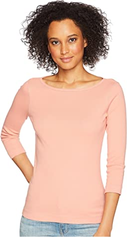 Essential British Neck 3/4 Sleeve Top