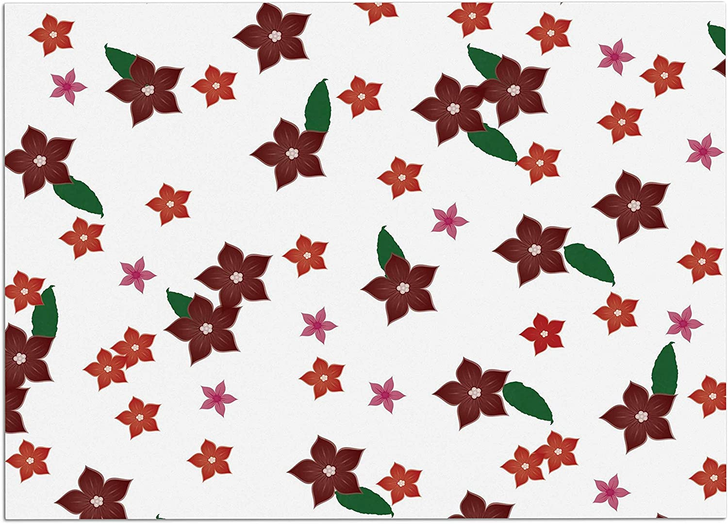 KESS InHouse NL1031ADM02 NL Designs Holiday Floral White Pattern Dog Place Mat, 24  x 15
