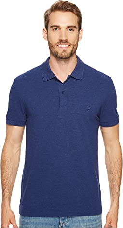 Lacoste - Short Sleeve Slubbed Pique Polo Dyed Used - Regular