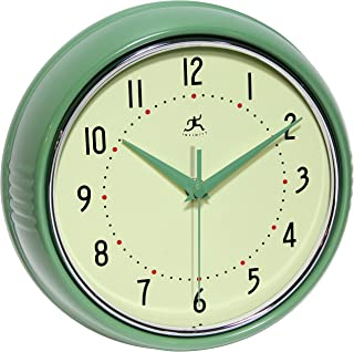Infinity Instruments Round Green Retro Indoor Wall Clock
