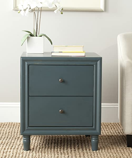 Safavieh American Homes Collection Blaise Steel Teal Accent Table