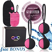 Kegel Balls for Beginners -and Advanced  Tightening Ben wa Shaking in Response to Your Body's Movements, Exercise Weights Set for Womem - Bladder Control &Strengthening Pelvic Floor Muscles