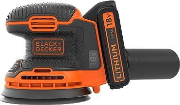 Black & Decker BDCROS18-QW BDCROS18-QW-Lijadora Rotorbital 18 V med 1 batería 1,5 Ah