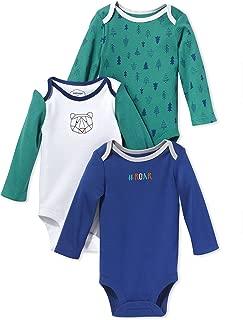 LAMAZE Organic Baby Baby Pure Organic Cotton Boys Longsleeve Bodysuits, 3 Pack