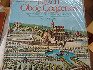 BACH, Johann Sebastian: Oboe Concerto, Bwv.1055 ; Concerto for Oboe, Strings and continuo in D Min. reconstructed from BWV...
