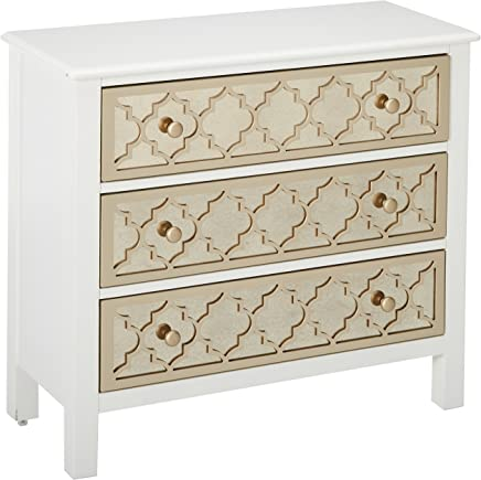 Pulaski DS-A259-850 Accent Drawer Chest with Mirrored Drawer Fronts,  34.0 x 15.0 x 30.0,  White
