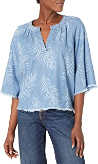 Joe's Jeans Women's Kailani Palm Laser Print Blouse