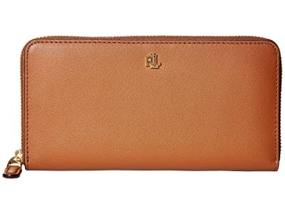 LAUREN Ralph Lauren Zip Continental Wallet (Lauren Tan) Wallet Handbags