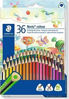 STAEDTLER 187 CD36 Noris colour Triangular Pencils, Assorted Pack of 36