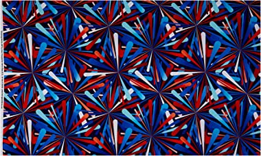 Henry Glass Smashing Atoms 108'' Quilt Back Patriotic Quilt Fabric