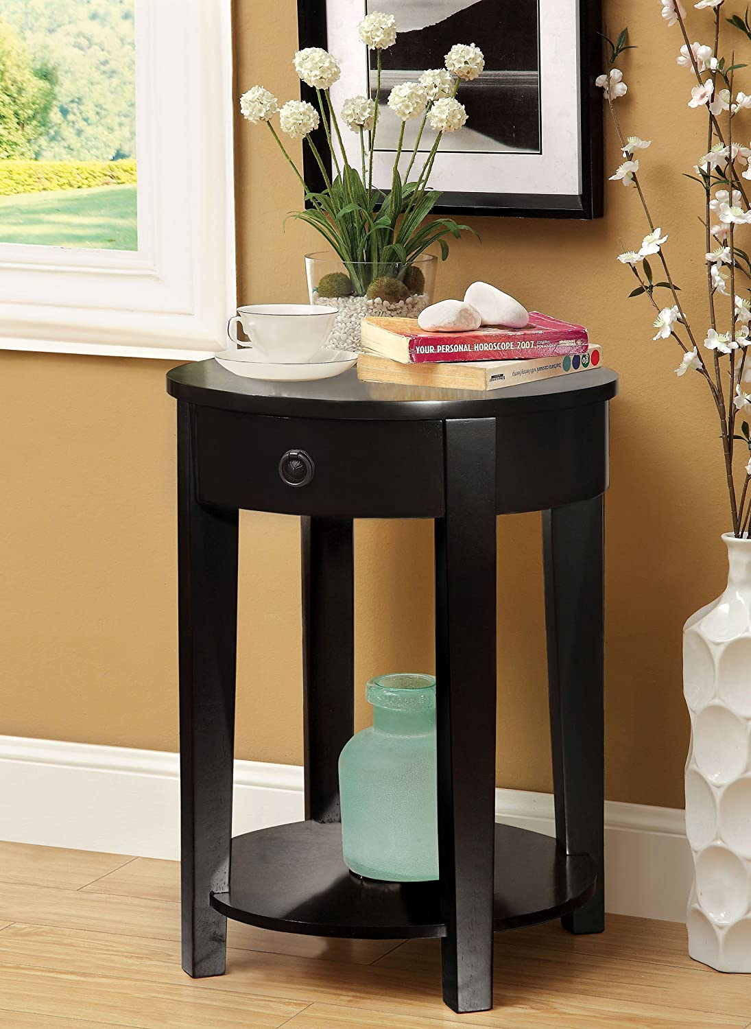 Beldibi Contemporary Style Side Table (Black)