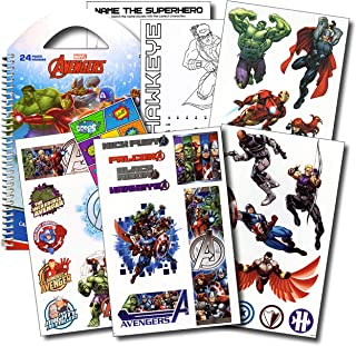 Marvel Avengers Stickers Travel Activity Set with Stickers, Activities, and Large Specialty Sticker