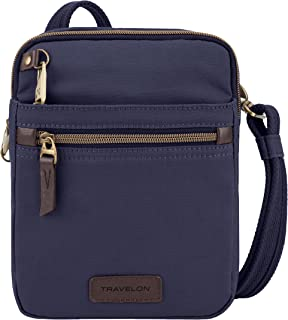 Travelon: Anti-Theft Courier Small N/s Slim Travel Bag - Navy