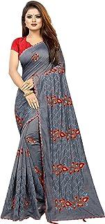 Febo Fashion Women's Chanderi Cotton Saree With Blouse Piece