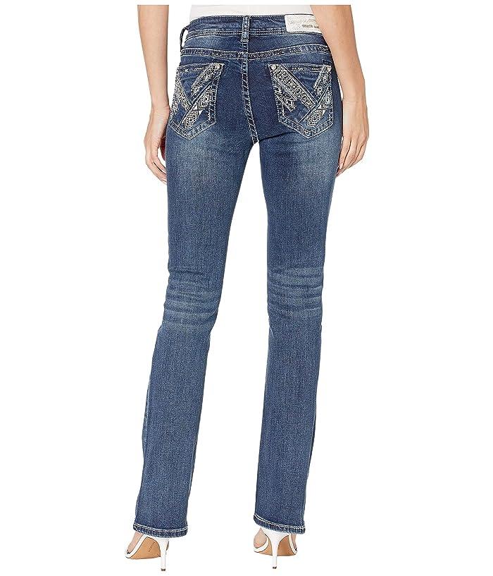Grace in LA Aztec Jeans in Light Medium Blue (Light Medium Blue) Women's Jeans