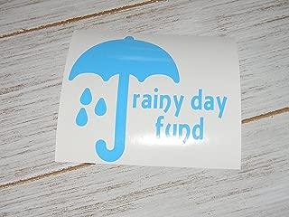 Rainy Day Fund Vinyl Decal Sticker, DIY Bank, money jar-Pick Color