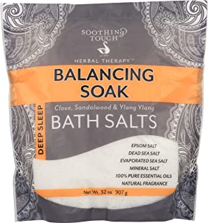 Soothing Touch Deep Sleep Bath Salts Balancing Soak Clove Sandalwood & Ylang 32 Oz