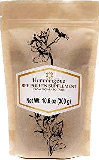 Hummingbee Bee Pollen - Raw Granules - 100% Natural Supplement - Source of Proteins, Vitamins & Minerals - ...