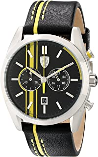 Ferrari Men's 830235 D 50 Analog Display Japanese Quartz Black Watch