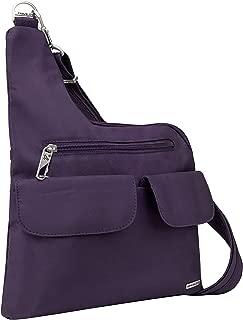 Travelon Anti-Theft Cross-Body Bag, Two Pocket, Dark Purple (Purple) - 42373-150
