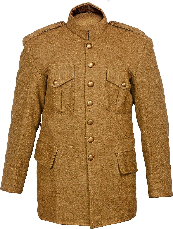 warreplica WW1 Canadian Max 78% OFF Time sale Army 1907 Khaki SD Stand Collar Tunic -