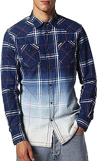 Button Down Plaid Ombre S-COURTY Shirt, Denim ($178)
