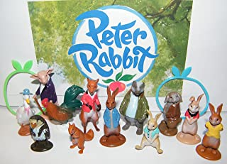 Peter Rabbit Deluxe Party Favors Goody Bag Fillers Set of 14 with Figures and Toy BunnyBracelets featuring Benjamin, Flopsy, Mopsy, Cottontail and More!