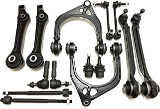 PartsW 14 Pc Complete Suspension Kit for Chrysler 300 / Dodge Challenger, Charger, Magnum/Front Upper & Lower Control Arms, Sway Bar Link, Lower Ball Joints (Adjustable), Tie Rod Linkages