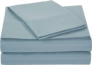 AmazonBasics Light-Weight Microfiber Sheet Set - Twin, Spa Blue