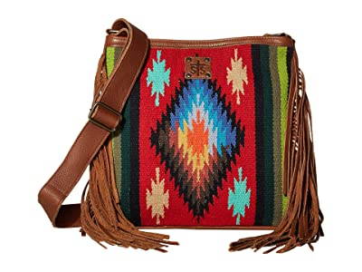 STS Ranchwear Fiesta Serape Ponderosa Crossbody Bag (Royal Blue/Black/Red) Bags