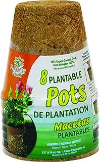 Akro-Mils Planters Pride RZR0300 8-Pack 3-Inch Fiber Grow Pot