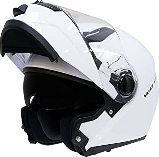 Voss 555 Modular DOT Helmet with Drop Down Sun Lens in Matte Black