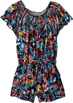 All Over Print Voile Romper (Big Kids)