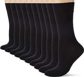 Marca Amazon - HIKARO Calcetines de Algodón Mujer, Pack de 10