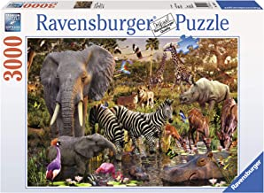 Ravensburger African Animals 3000 Piece Jigsaw Puzzle for Adults – Softclick Technology Means Pieces Fit Together Perfectly