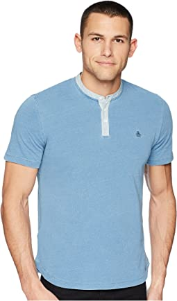 Original Penguin Short Sleeve Indigo Henley