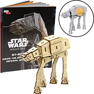 Star Wars: Rogue One at-ACT Book and 3D Wood Model Figure Kit - Build, Paint and Collect Your Own Wooden Movie Toy Model - for Kids and Adults, 12+ - 4.75