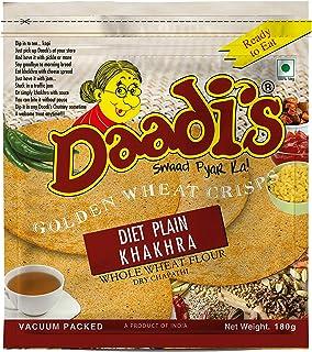 Daadi's Golden Wheat Crisps Diet Plain Khakhra 180g (Pack of 3)