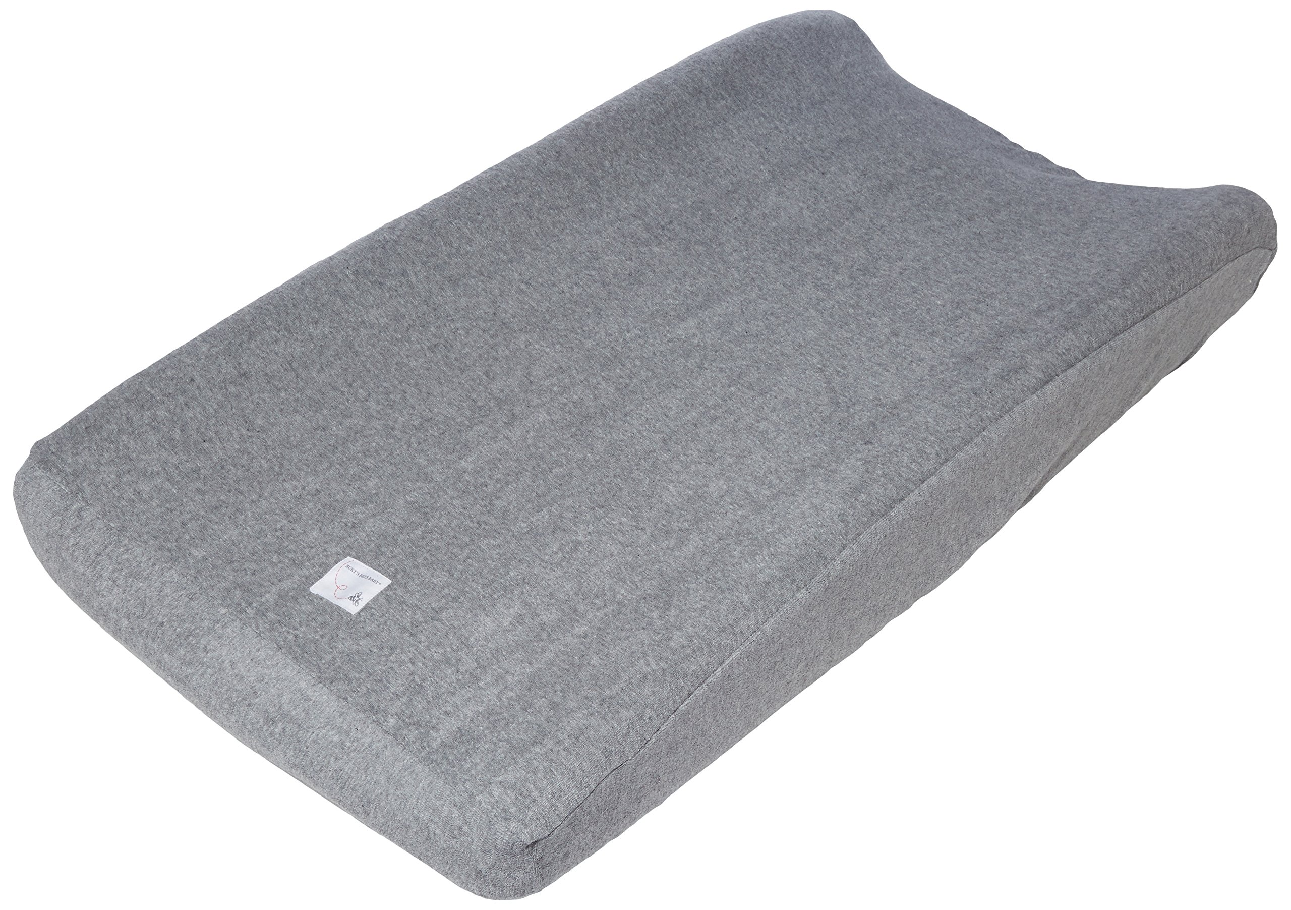 Changing Pad Cover Heather Grey Burts Bees Baby 100/% Organic Cotton for Standard 16 x 32 Changing Pads Super Absorbent Knit Terry
