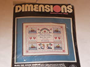 Dimensions counted cross stitch ... Bless This House Sampler ... 14