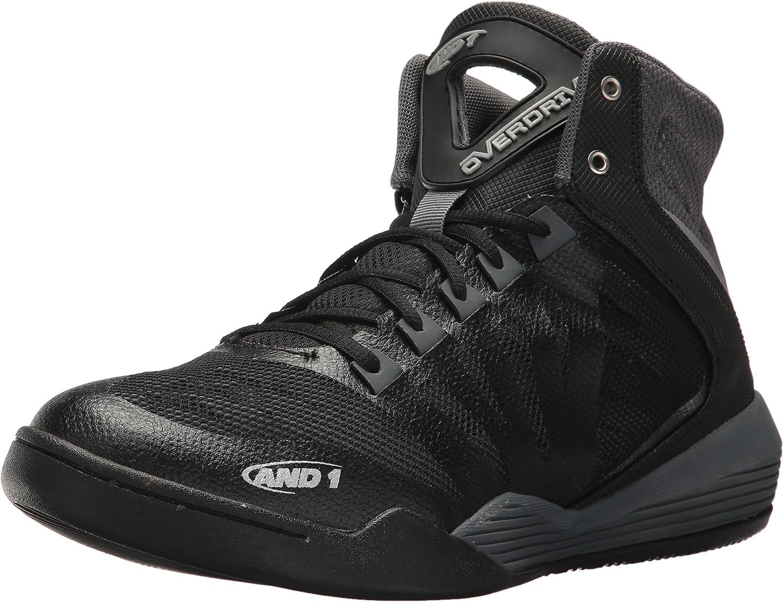 AND1 Men's Overdrive Basketball shoes, Castlerock Black Jasmine, 8 M US