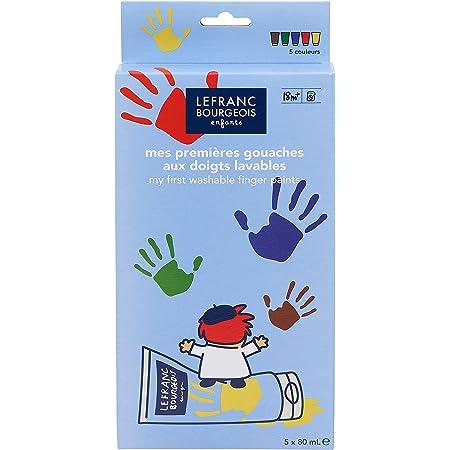 Lefranc Bourgeois - Mes premières gouaches aux doigts lavables pour enfants - 5 tubes de 80ml