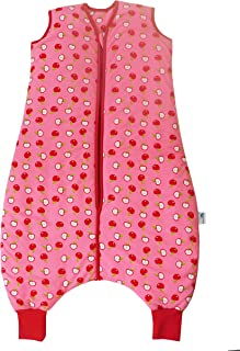 Slumbersac Sleeping Bag with Feet and Poppers 2.5 Tog-Simply Red Apple - 12-18 months/31 inch